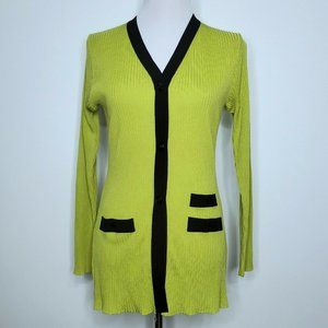 Exclusively Misook Button Down Cardigan Size Small